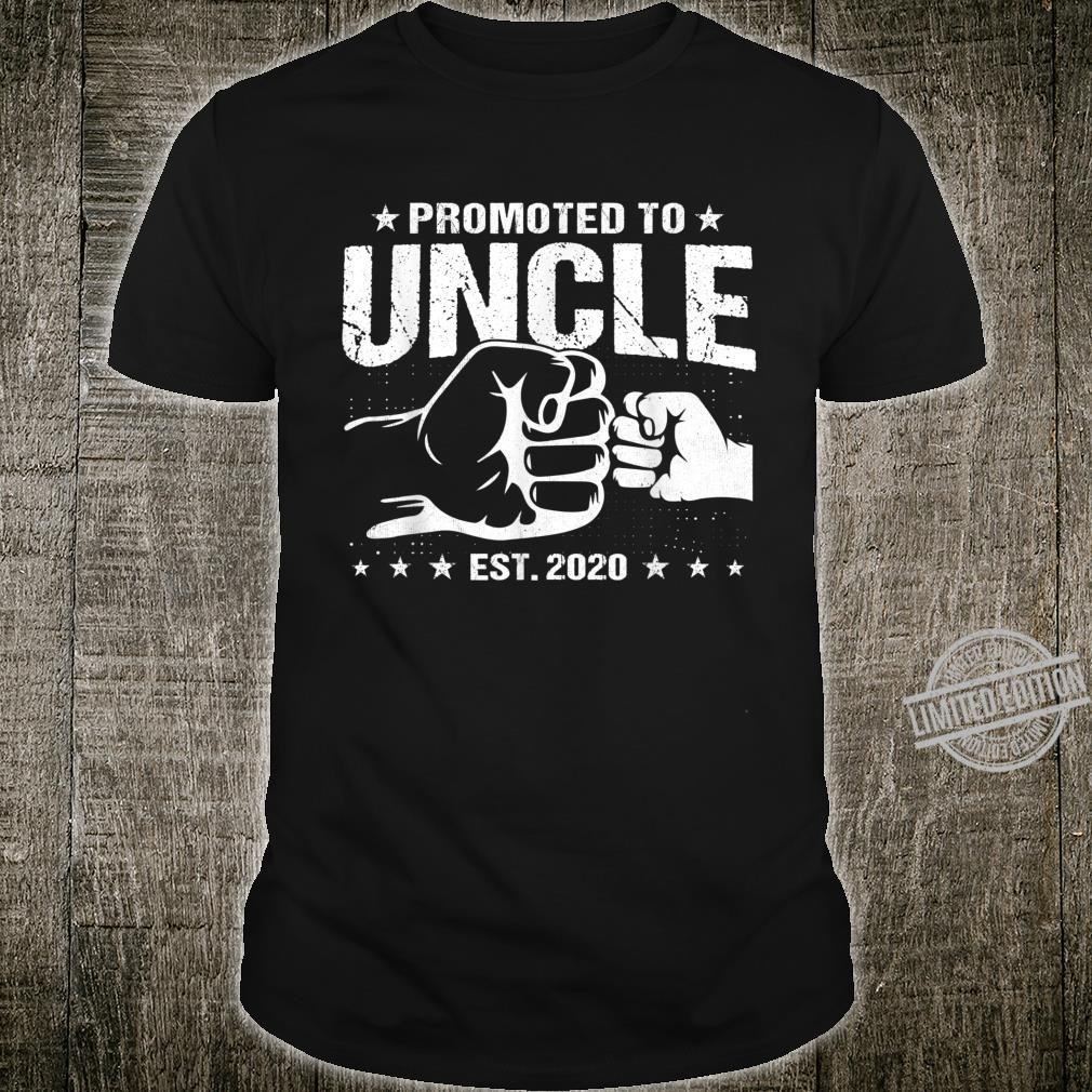 Mens Promoted to Uncle 2020 Pregnancy Announcement New Uncle Shirt