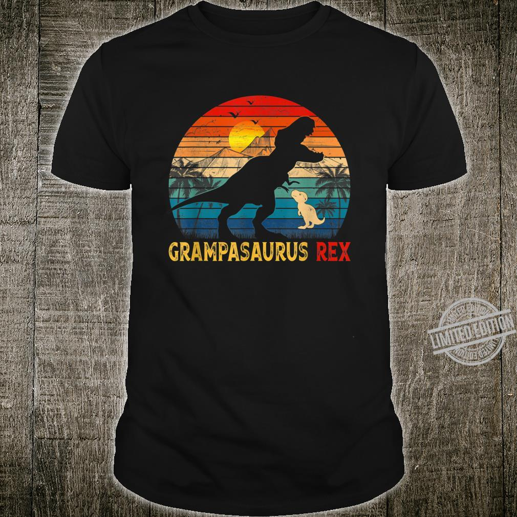 Mens Retro Vintage Grampasaurus Rex Family Father's Day Shirt