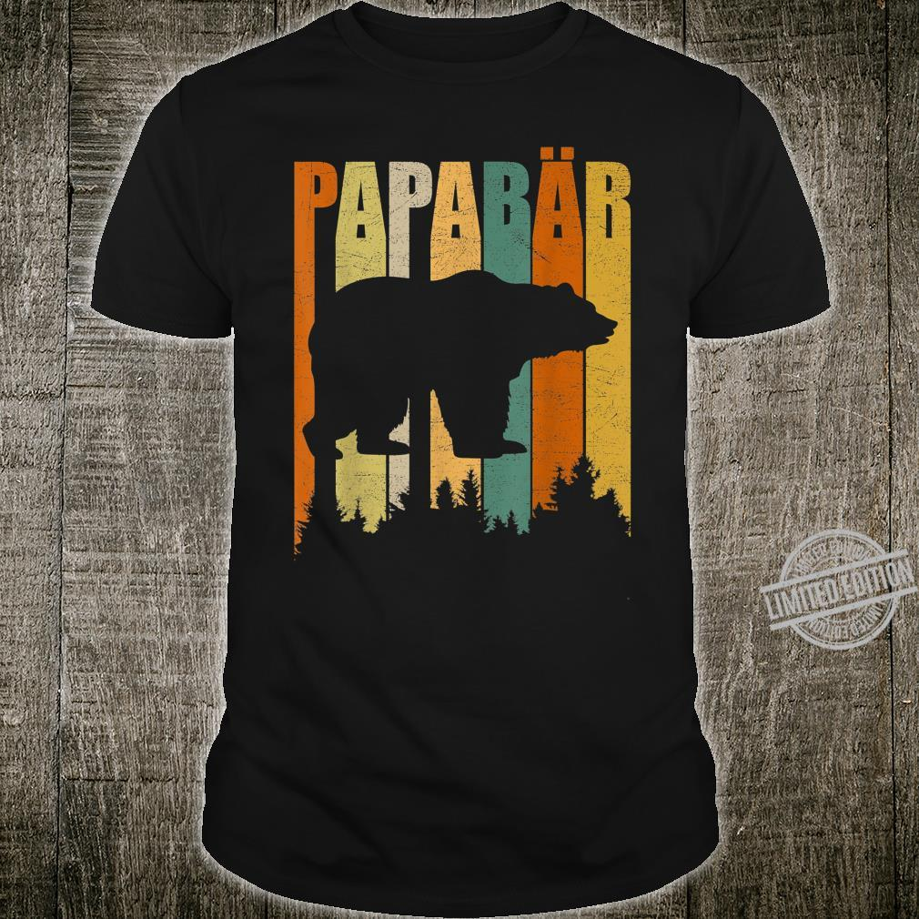PapaBär Father's Day for Dad Bear Grandpa Daddy Vintage Shirt