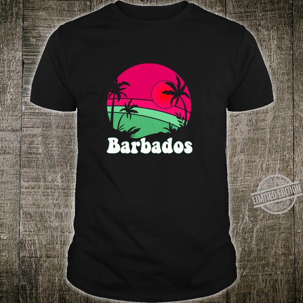 Retro Barbados Beach Design Vintage Barbados Illustration Shirt