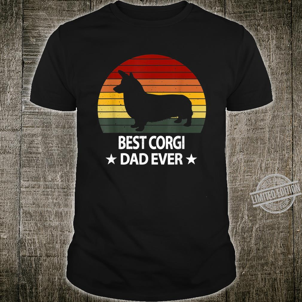 Retro Corgi Dad Daddy Dog Father's Day Shirt