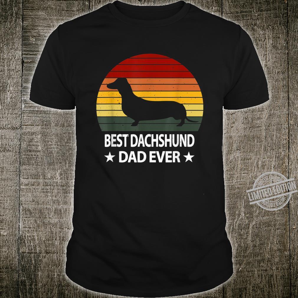 Retro Dachshund Dad Gift Doxie Daddy Dog Father's Day Shirt