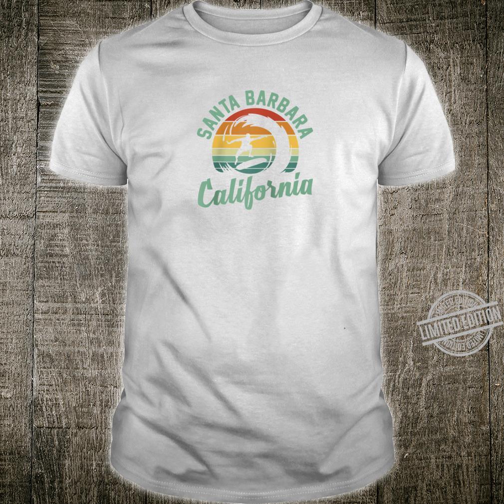 Santa Barbara California Surfing Skateboarding Shirt