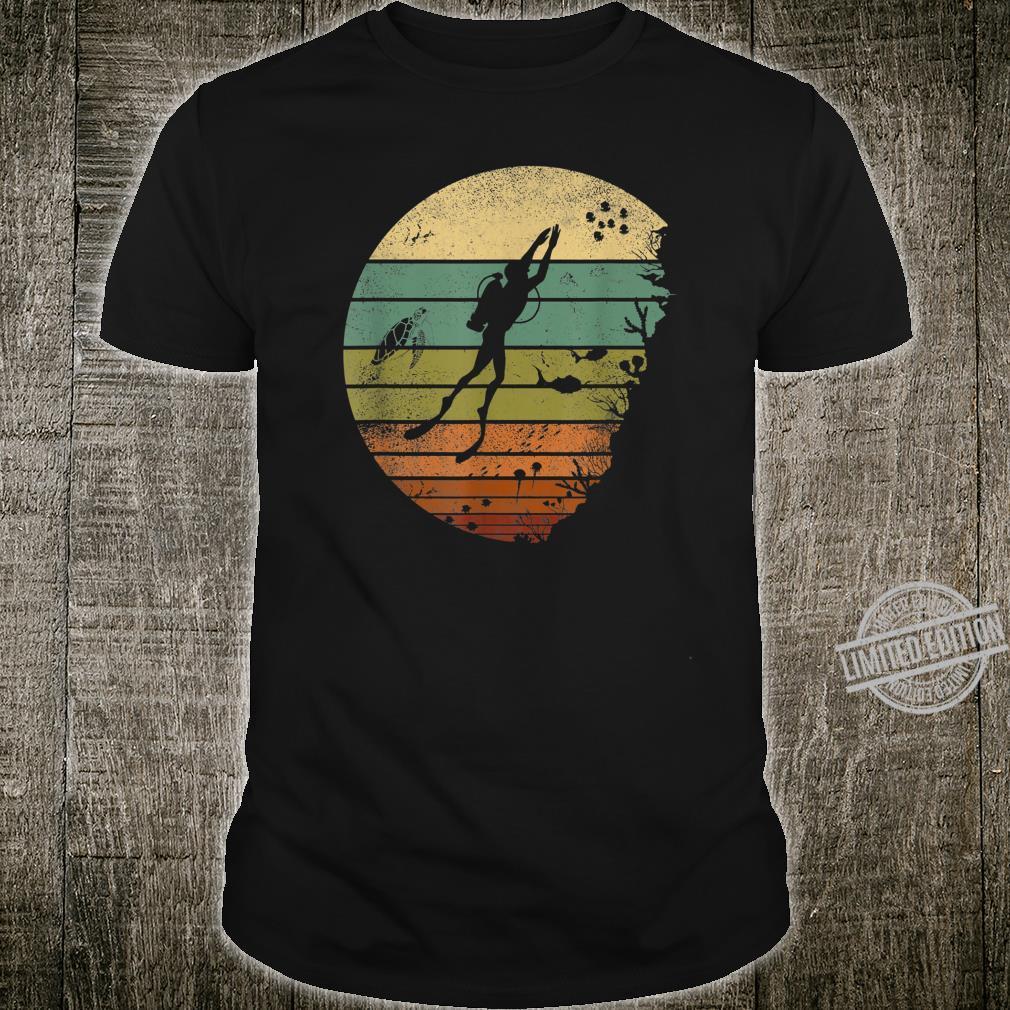 Scuba Diving Vintage Retro Ocean Scuba Diver Shirt