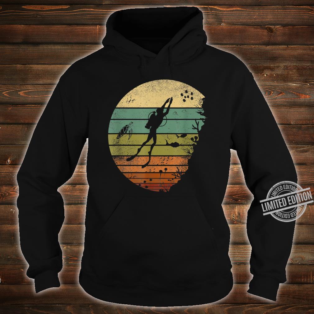 Scuba Diving Vintage Retro Ocean Scuba Diver Shirt hoodie
