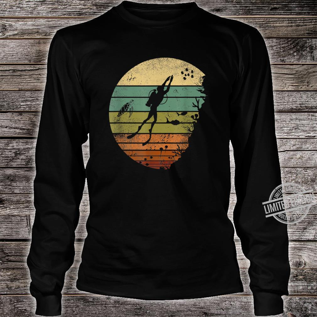 Scuba Diving Vintage Retro Ocean Scuba Diver Shirt long sleeved