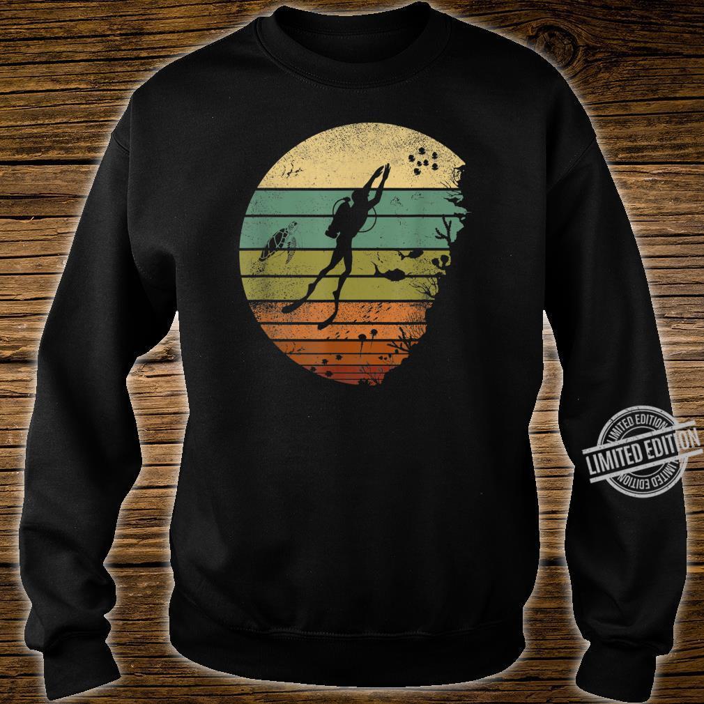 Scuba Diving Vintage Retro Ocean Scuba Diver Shirt sweater
