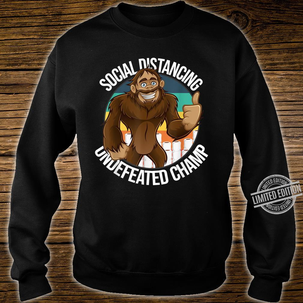 Smiling Thumbs Up Bigfoot Social Distancing Undefeated Champ Shirt sweater