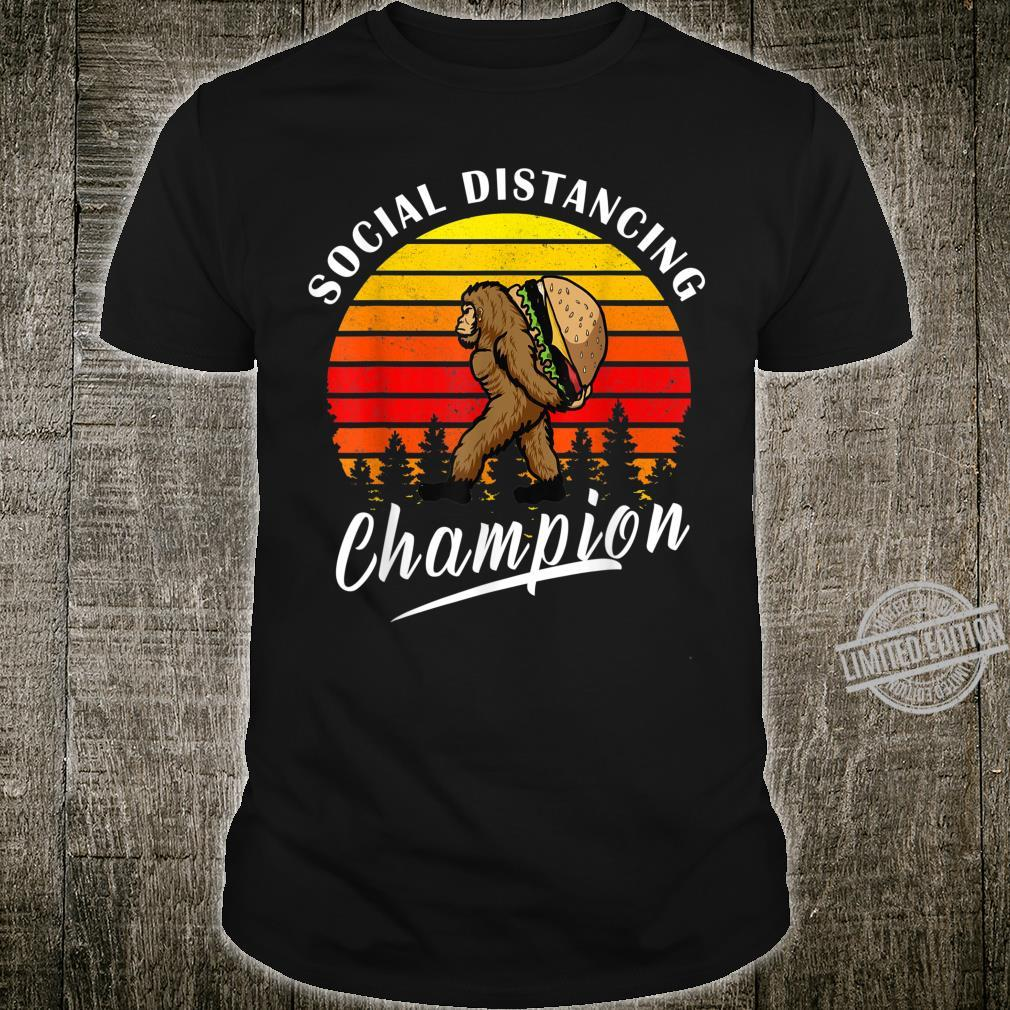 Social Distancing Champion Bigfoot Anti Social Shirt