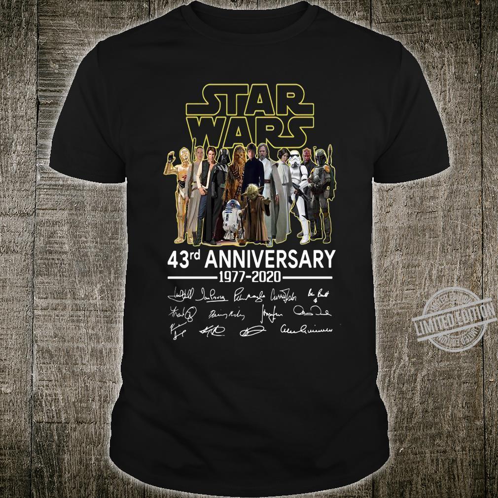 Star War 43rd Anniversary 1977 - 2020 And Signatures Men Shirt