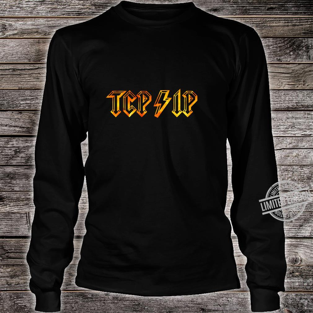 TCPIP in Rock N Roll Style Computer Geeks' Networking Shirt long sleeved