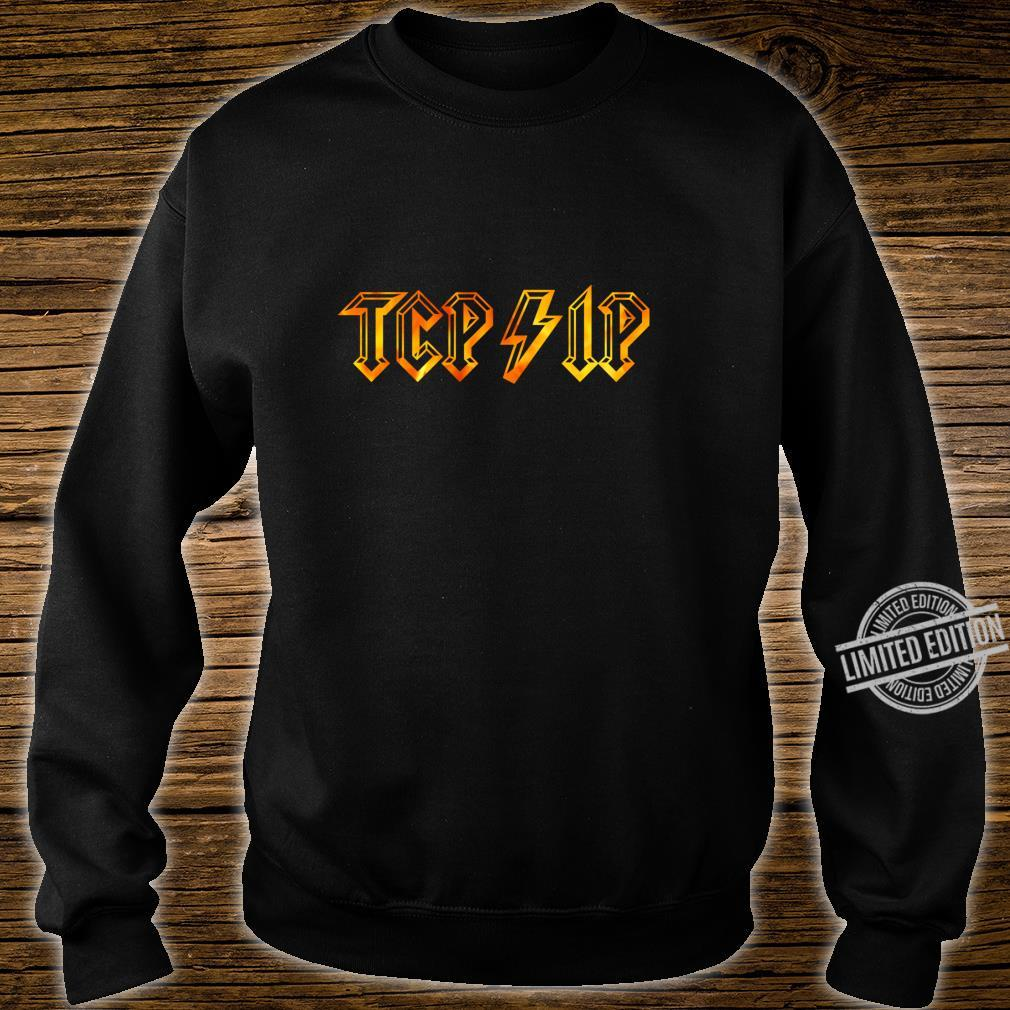 TCPIP in Rock N Roll Style Computer Geeks' Networking Shirt sweater