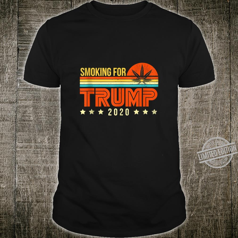 Trump 2020 Smoking Weed Supporter Cool Pro Republicans Shirt