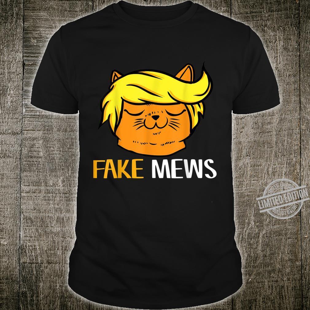 Trump Hair Cat 45 2020 Fake News Cool Pro Republicans Shirt