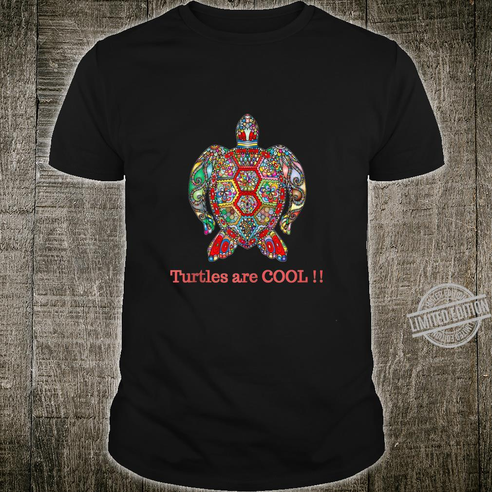 Turtles are cool, colorful floral seaturtle design Shirt