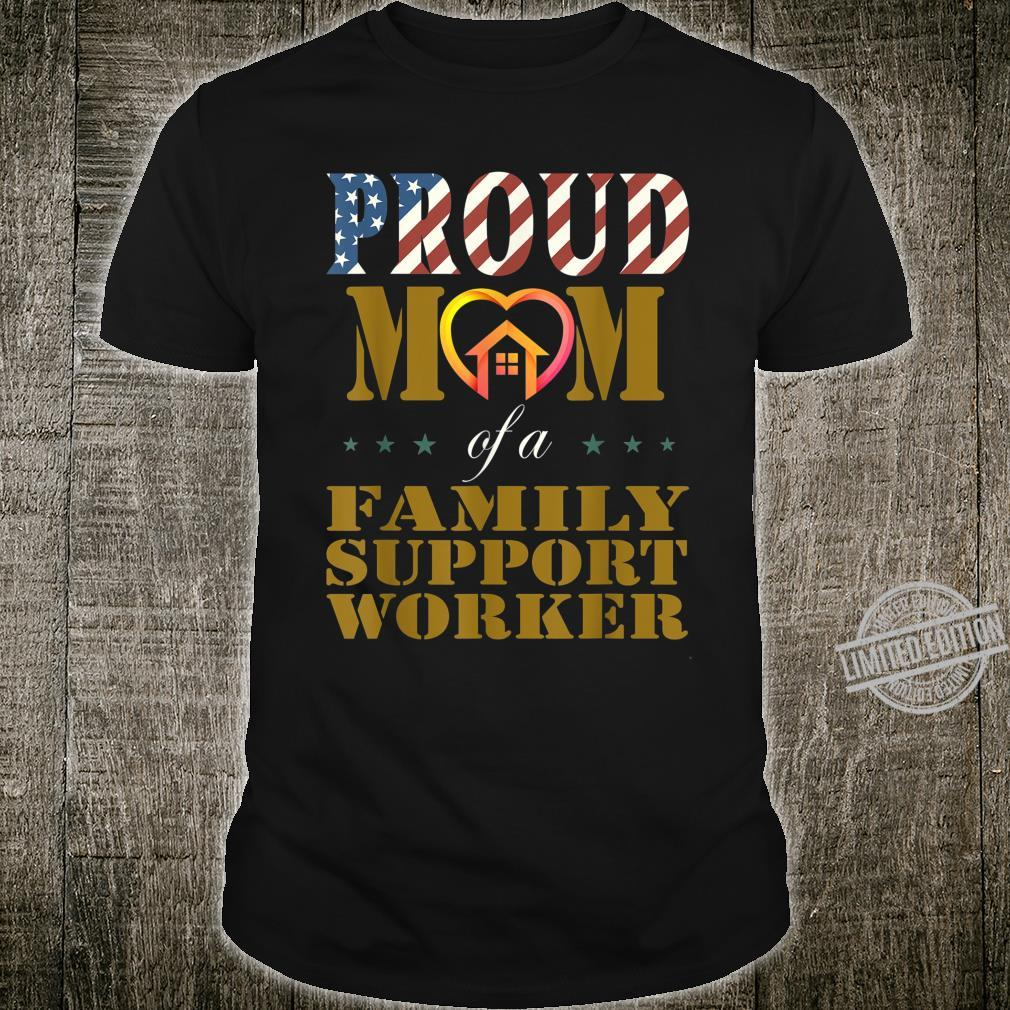 Vintage Flag American Proud Mom of Family Support Worker Shirt