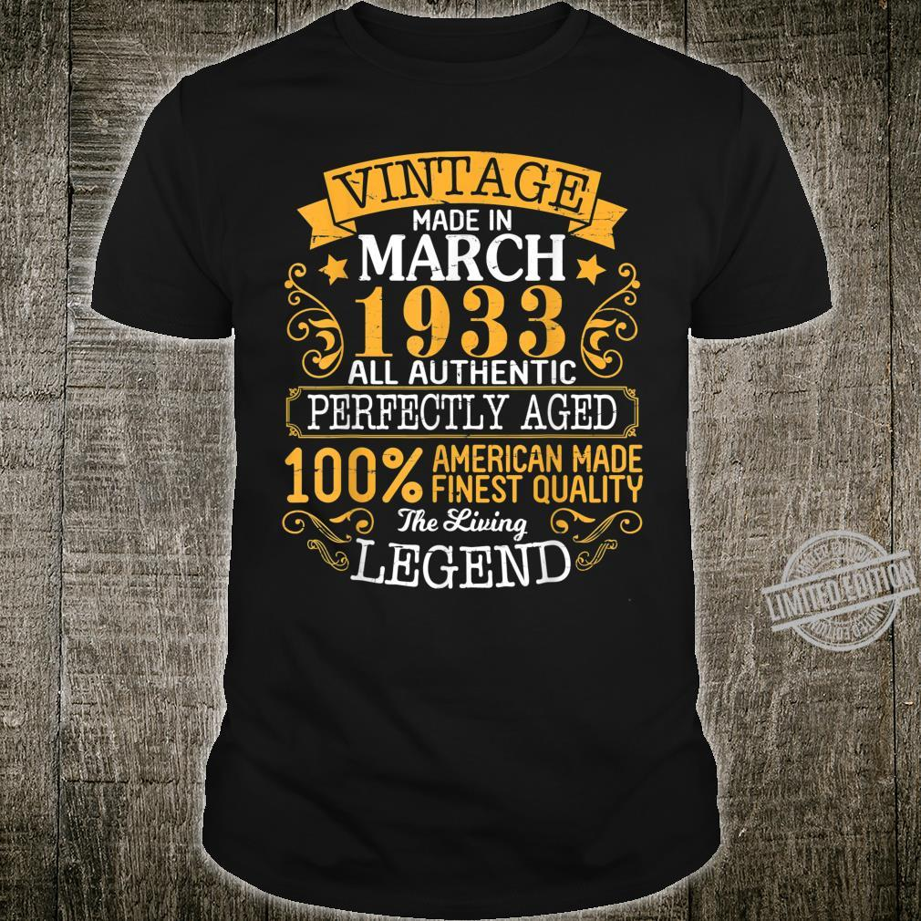 Vintage Made In March 1933 Authentic Perfectly Aged American Shirt