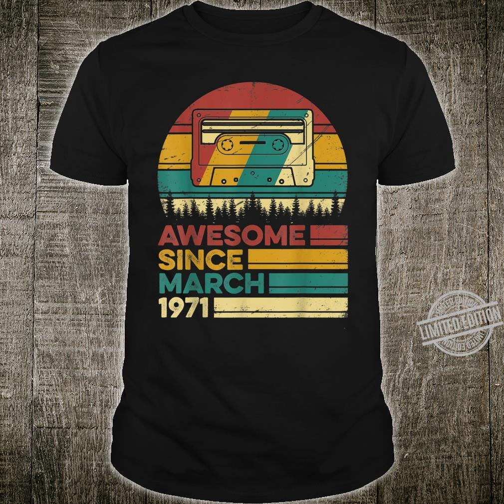Vintage Retro March 1971 49 Years Old 49th Birthday Shirt