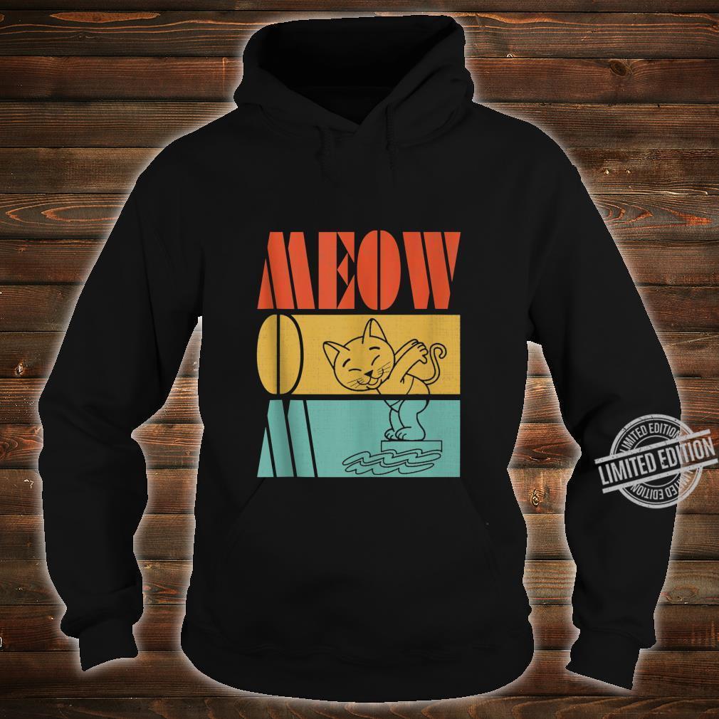 Vintage Retro Meow Mom Cute Cat Swimming Love Sports Shirt hoodie