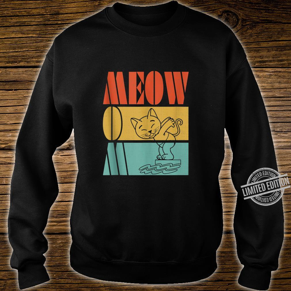 Vintage Retro Meow Mom Cute Cat Swimming Love Sports Shirt sweater