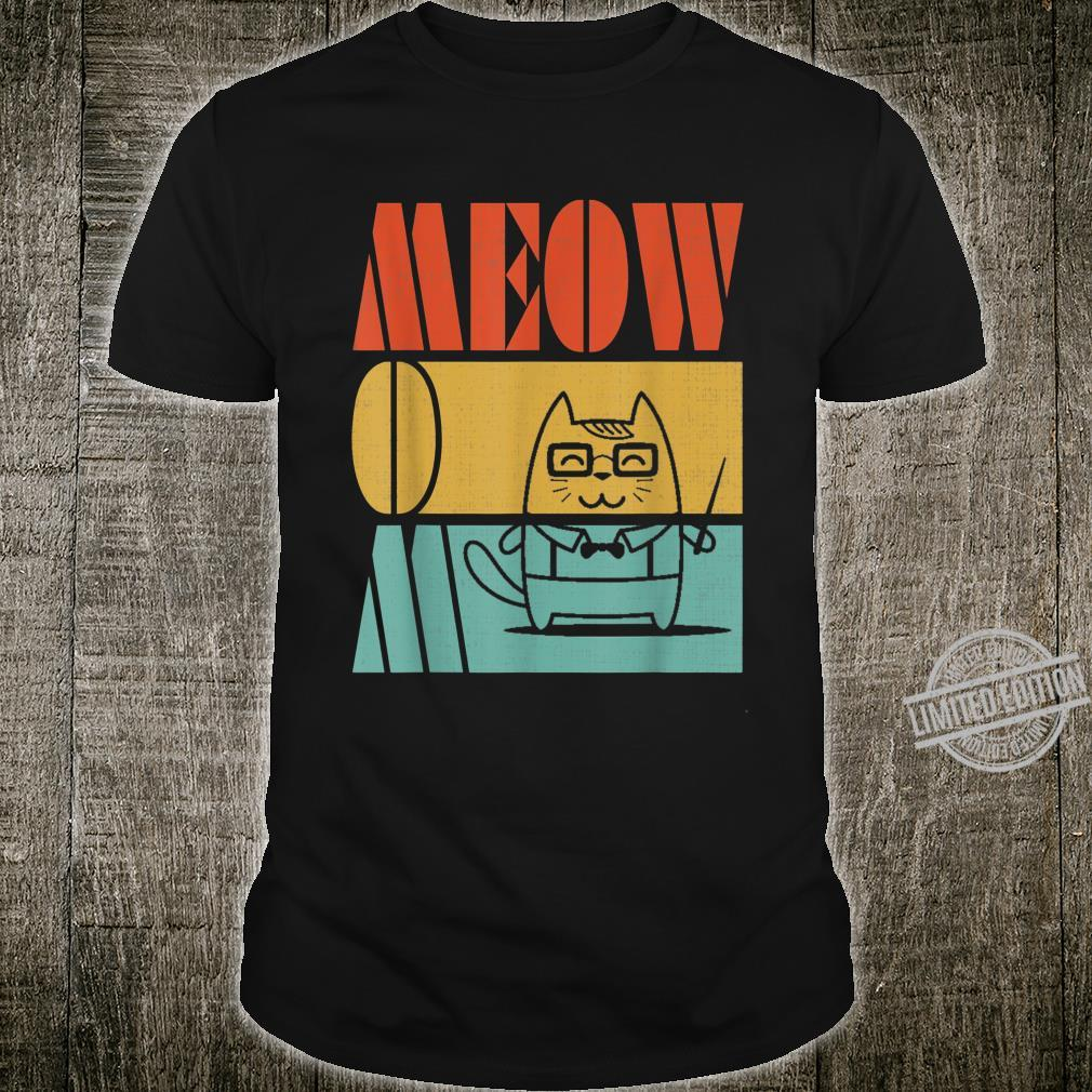 Vintage Retro Meow Mom Cute Cat Teacher, I Love Sports Shirt