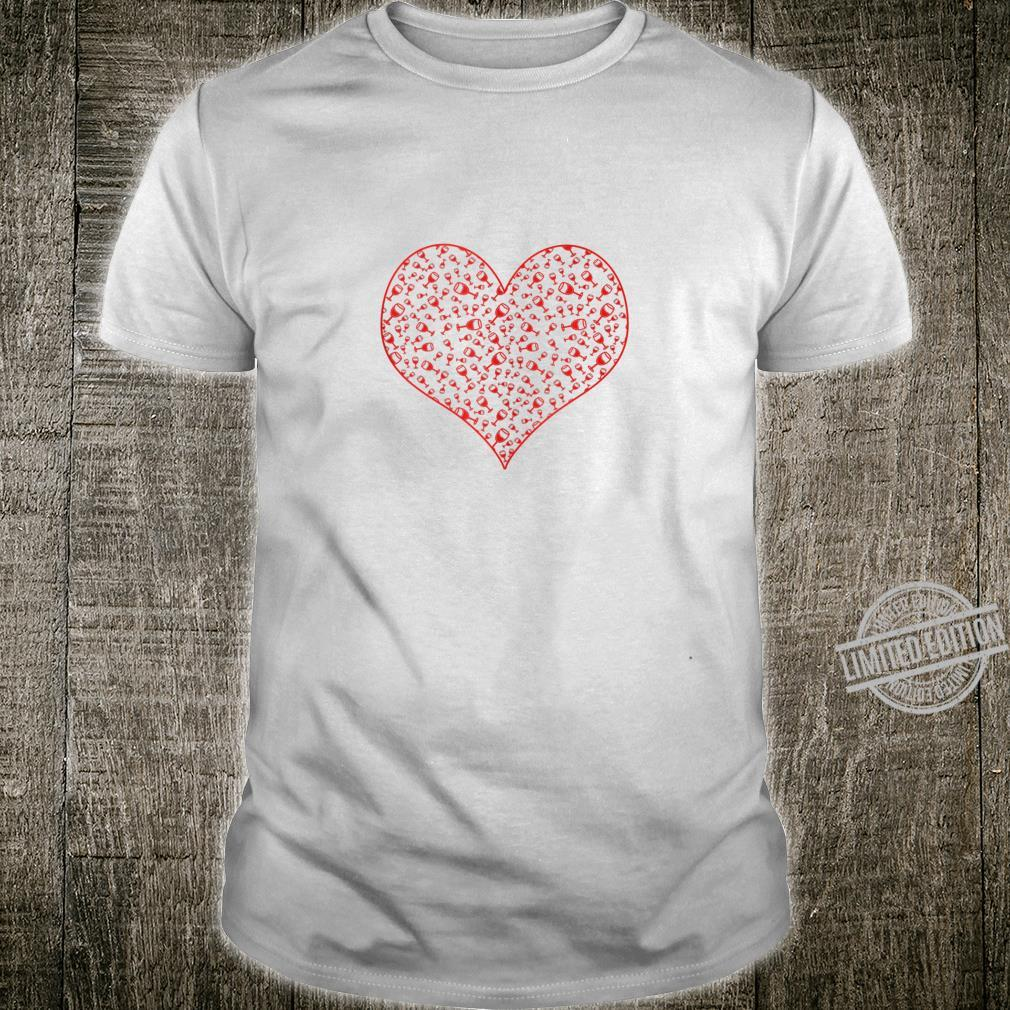 Wine Glass Heart For Wines Valentine's Day Shirt
