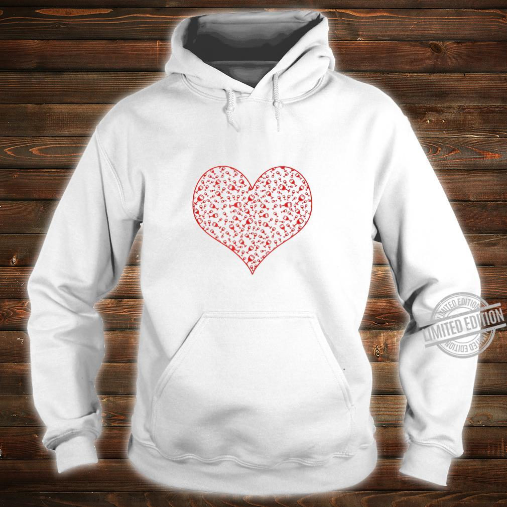 Wine Glass Heart For Wines Valentine's Day Shirt hoodie