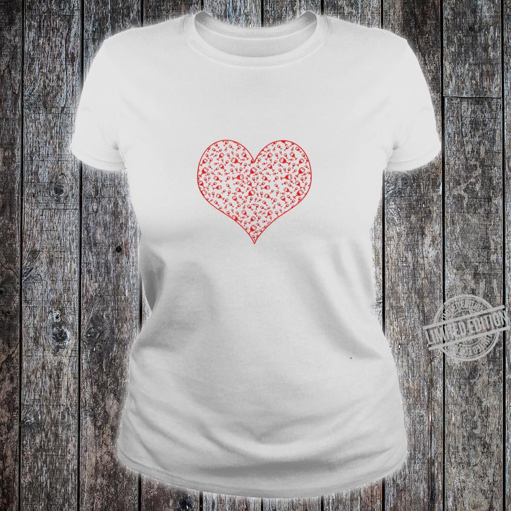 Wine Glass Heart For Wines Valentine's Day Shirt ladies tee