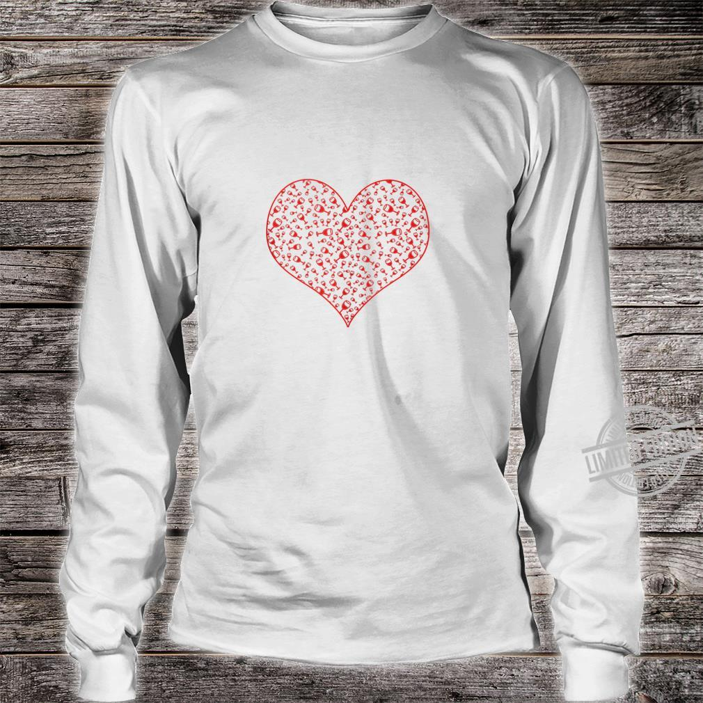 Wine Glass Heart For Wines Valentine's Day Shirt long sleeved