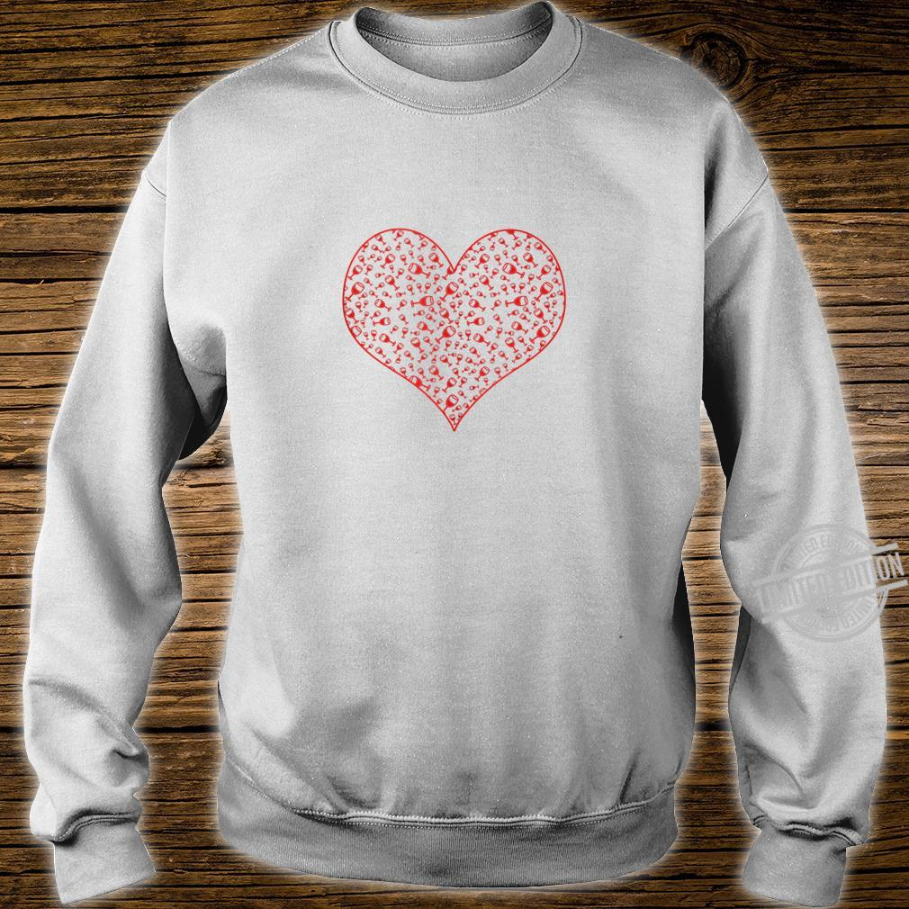 Wine Glass Heart For Wines Valentine's Day Shirt sweater