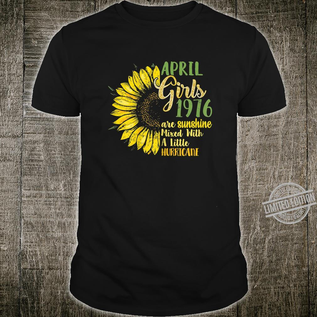 Womens April Girls 1976 Shirt 44th Birthday 1976 Birthday Shirt