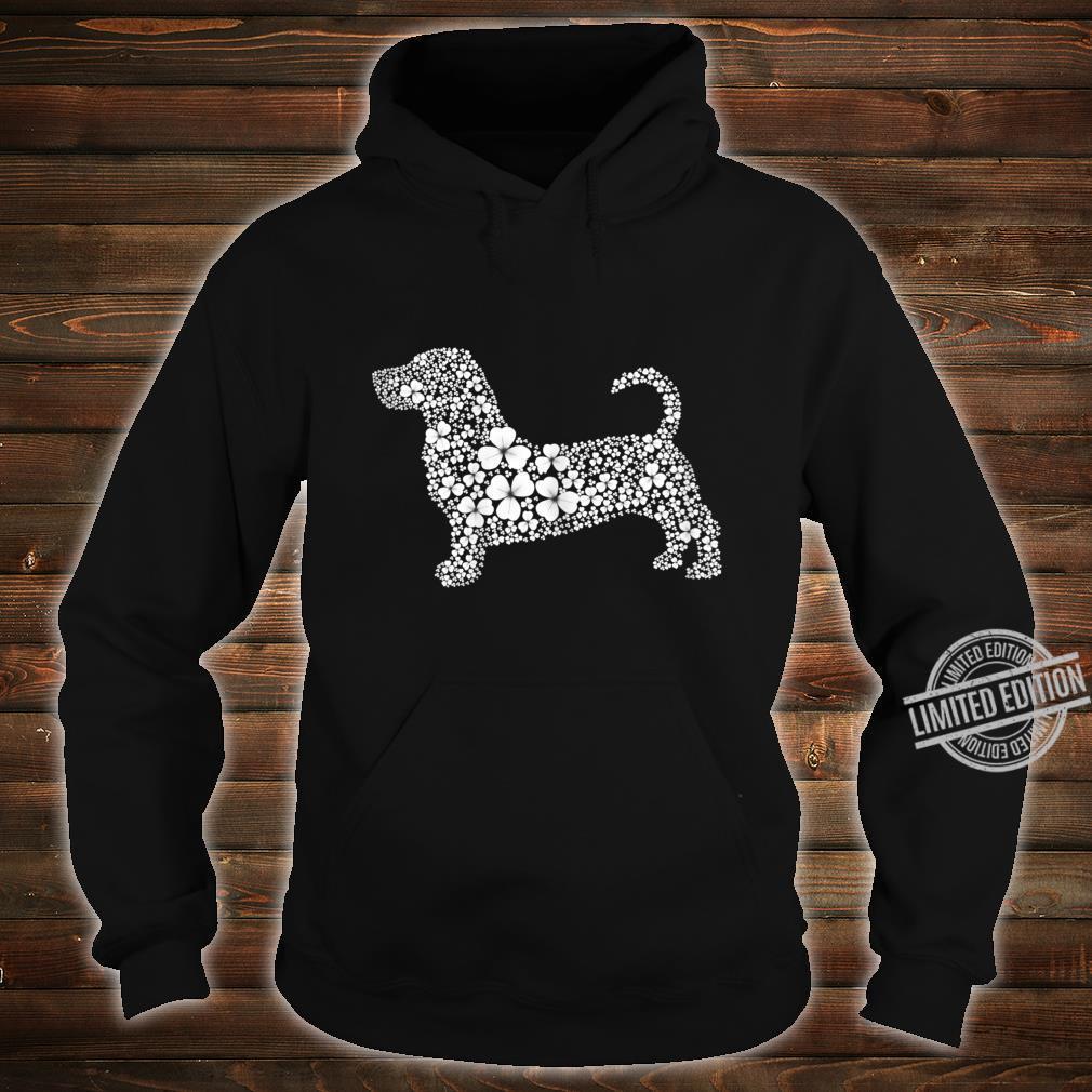Womens Basset Hound Patrick LuckyClover Shamrock Irish Leaf Shirt hoodie