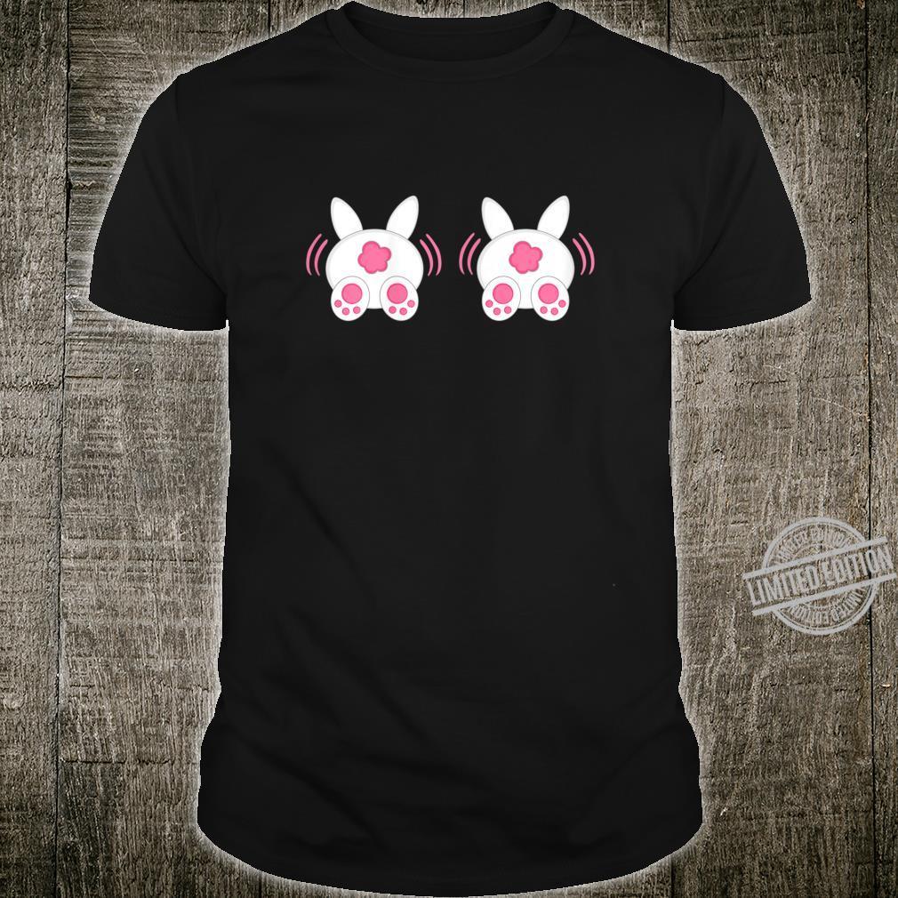 Womens Bunny Boobs Bunny Boobies Easter Day Cute Easter Shirt