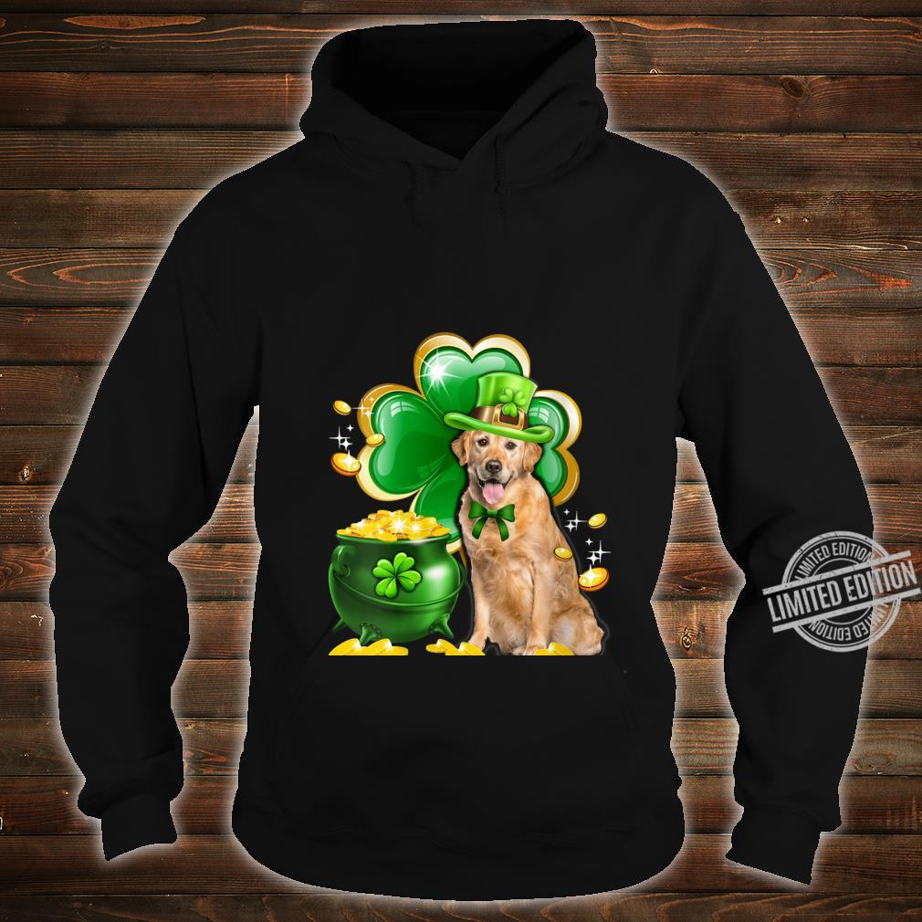 Womens Golden Retriever Dog Shamrock St Patricks Day Dog Irish Shirt hoodie