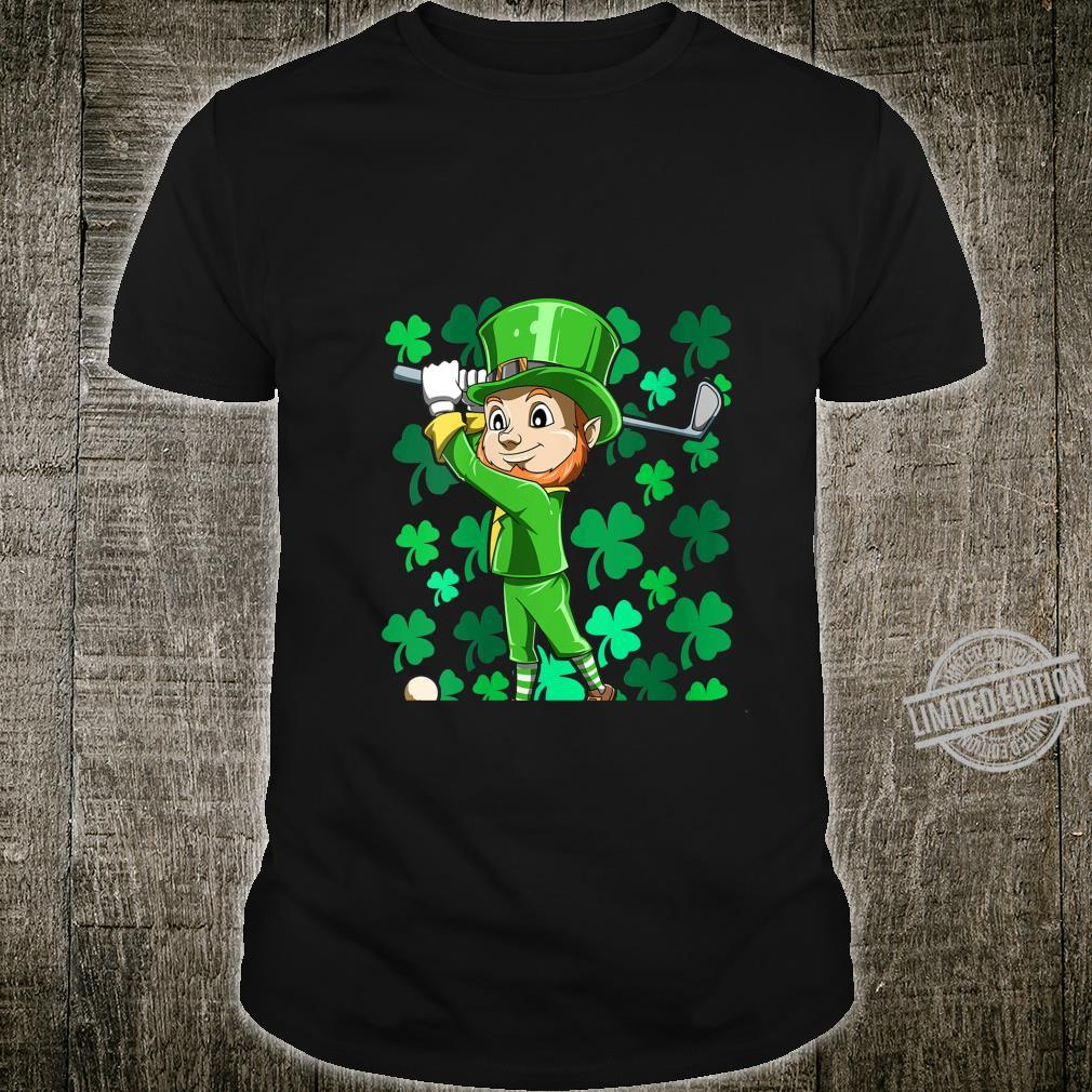 Womens Golf Leprechaun Playing Golf Irish Golfers St Patrick's Day Shirt