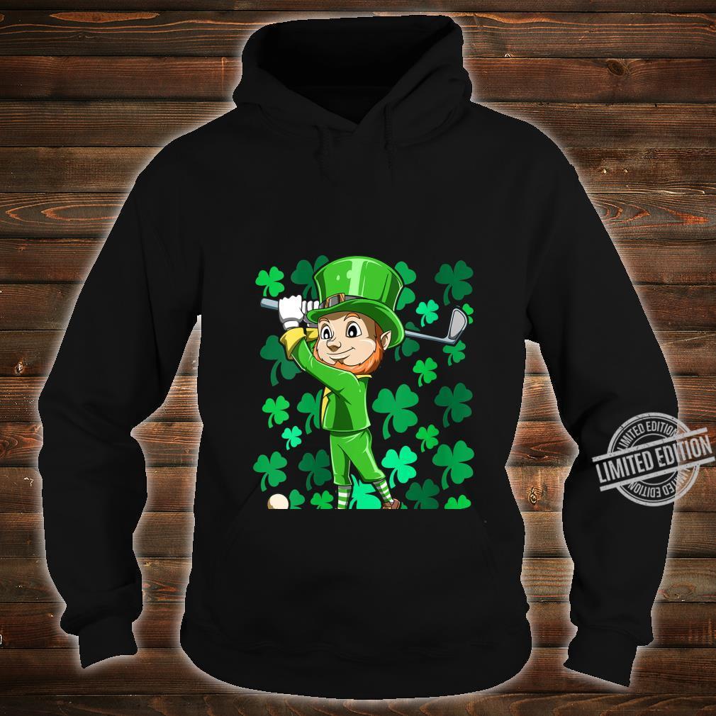 Womens Golf Leprechaun Playing Golf Irish Golfers St Patrick's Day Shirt hoodie