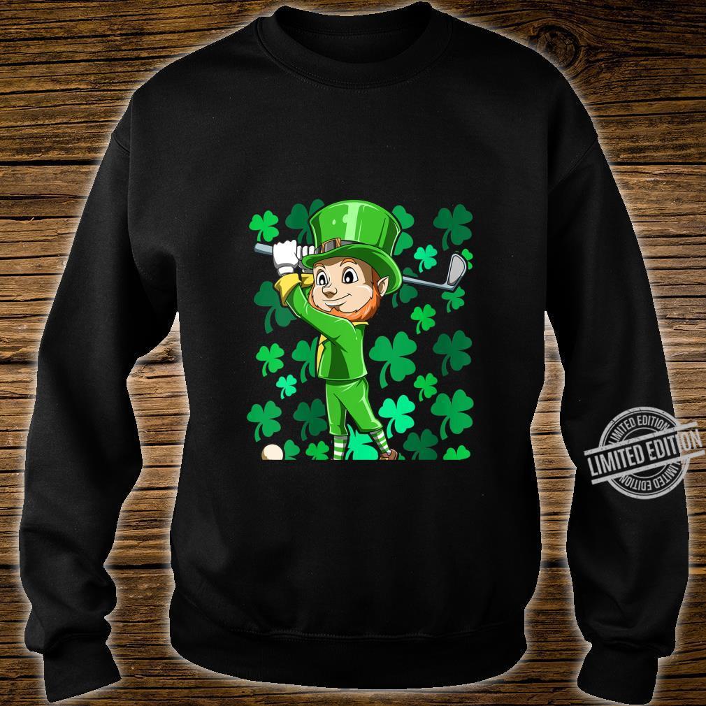 Womens Golf Leprechaun Playing Golf Irish Golfers St Patrick's Day Shirt sweater