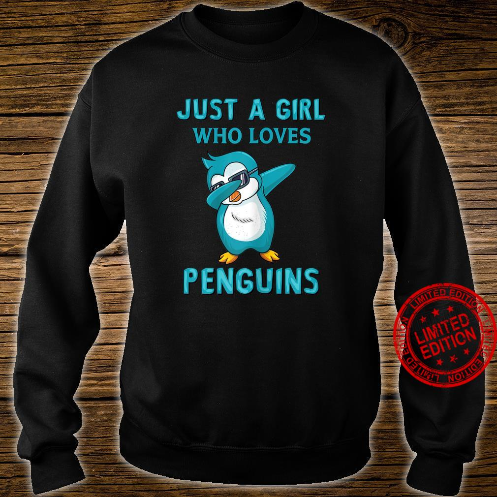 Womens Just A Girl Who Loves Penguins Cute Shirt sweater