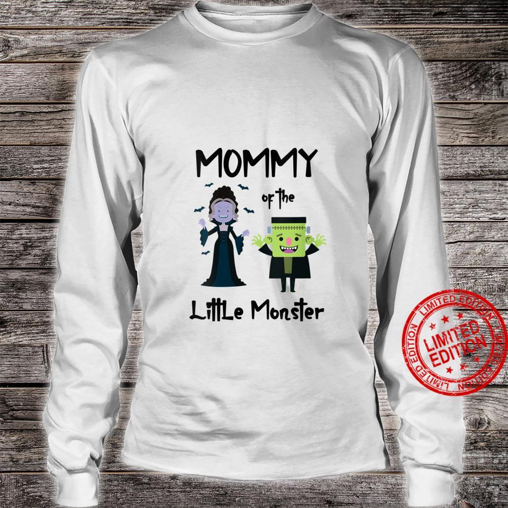 Womens Mommy Of The Little Monster Halloween Family Monster Shirt long sleeved