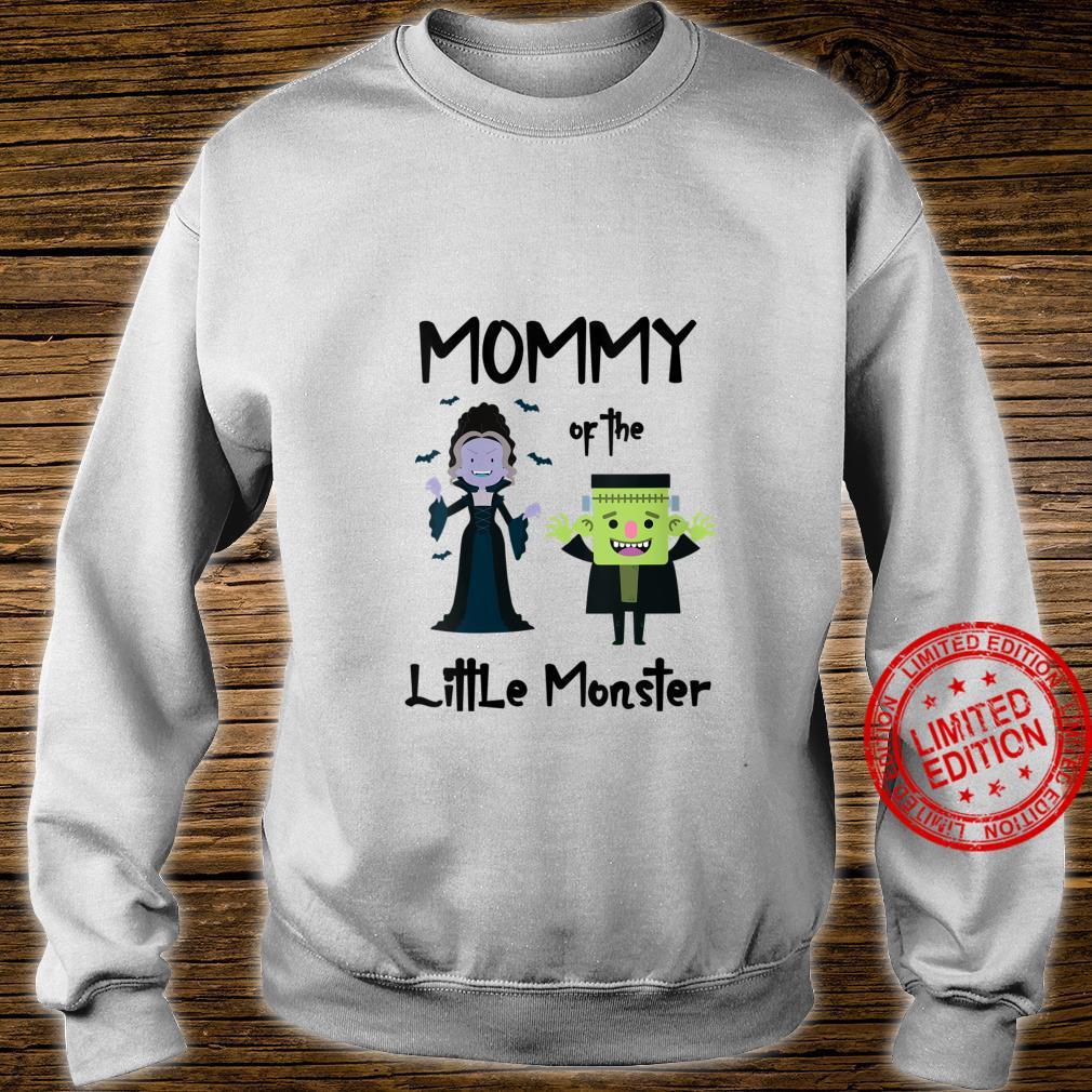 Womens Mommy Of The Little Monster Halloween Family Monster Shirt sweater