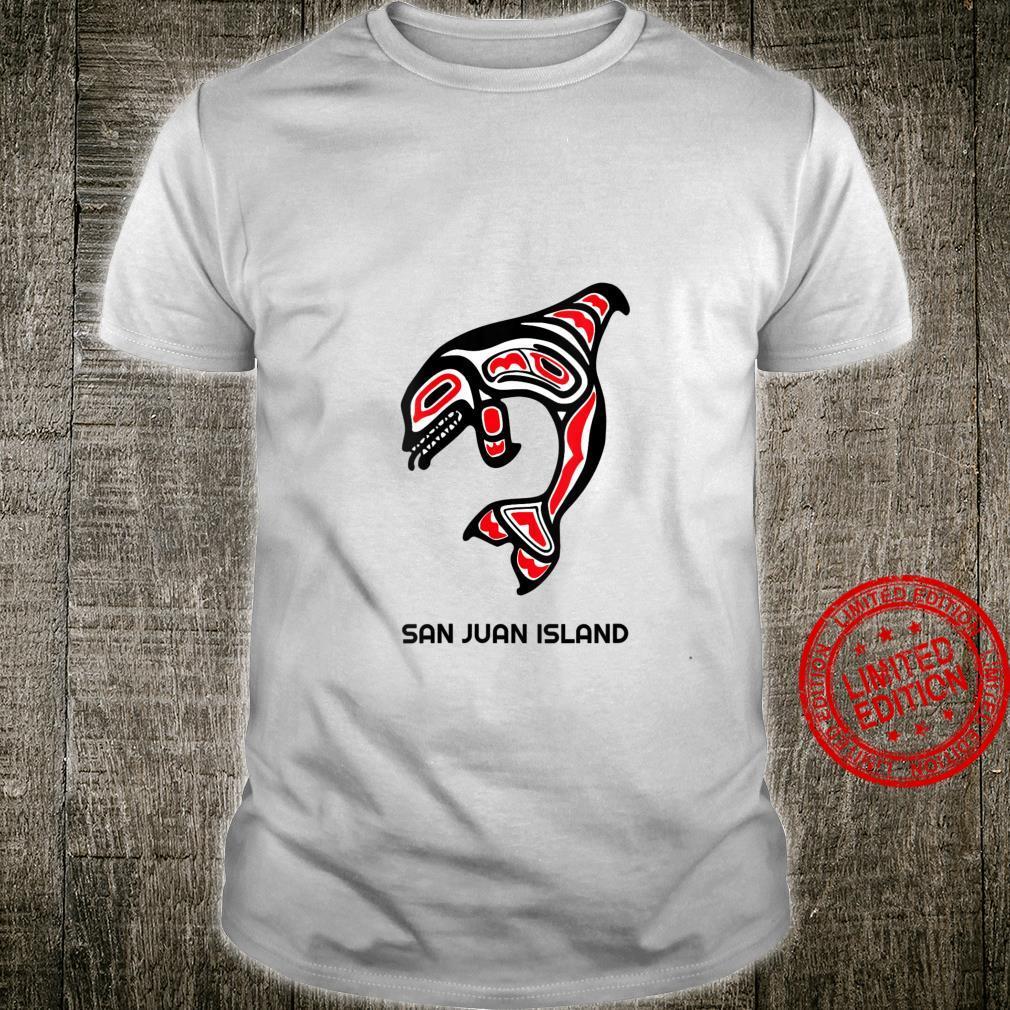 Womens San Juan Island Native American Indian Orca Killer Whales Shirt